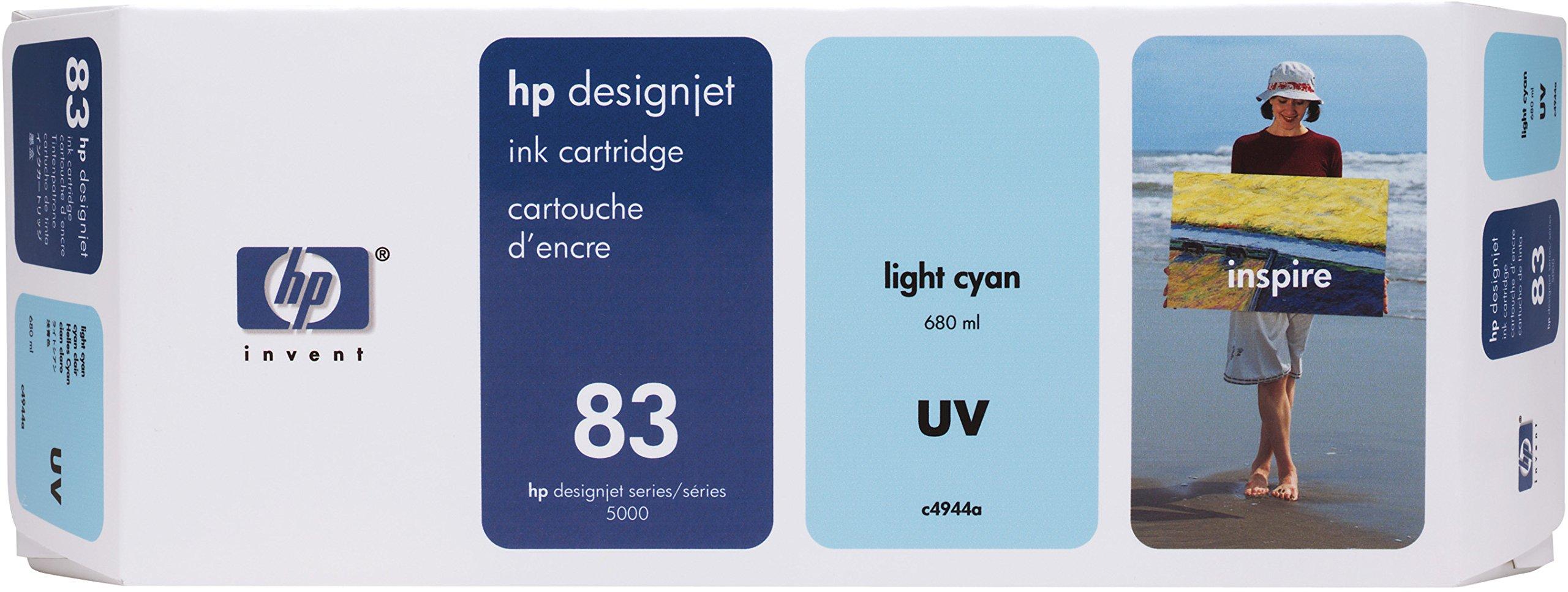 HP 83 C4944A UV Ink Cartridge for DesignJet 5000 series, 680ml, Light Cyan