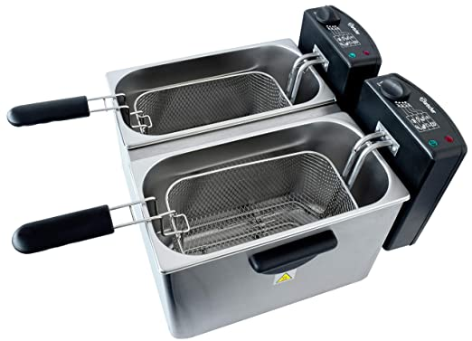 Bartscher A165112 Doble Independiente 8L 4400W Acero Inoxidable - Freidora (8 L, Doble, Acero Inoxidable, Independiente, 4400 W, 6,5 kg): Amazon.es: Industria, empresas y ciencia