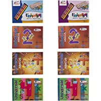 Universal Abacus (Combo Pack of 8) Level:- 1-4 (Book-A, B Both)