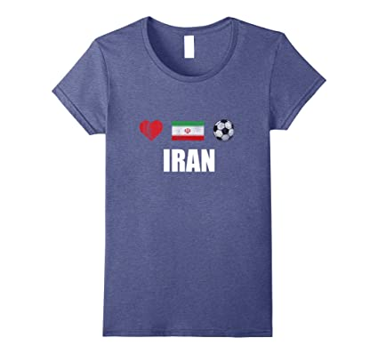 Women s Iran Football Shirt - Iran Soccer Jersey Small Heather Blue ... 2fcdb768b8