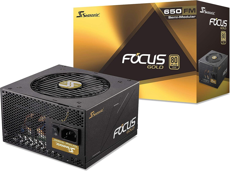 Seasonic FOCUS 650 Gold SSR-650FM 650W 80+ Gold ATX12V & EPS12V Semi-Modular 7 Year Warranty Compact 140 mm Size Power Supply