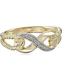 10k Yellow Gold Infinity Diamond Ring