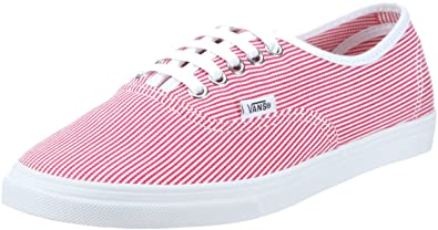 a638e109fa621f Vans Unisex-Adult Authentic Lo Pro Red True White Trainer VGYQ5QF 6 ...
