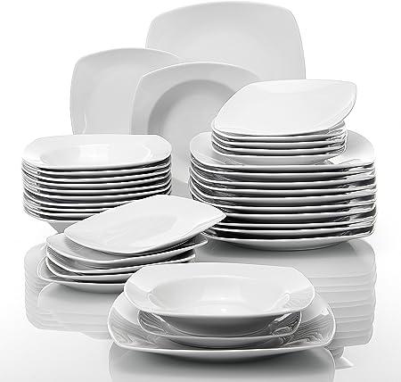HERMOSO SERVICIO DE MESA DE PORCELANA DE ALTA CALIDAD EN CREMA LIGERA BLANCA | productos de porcelan