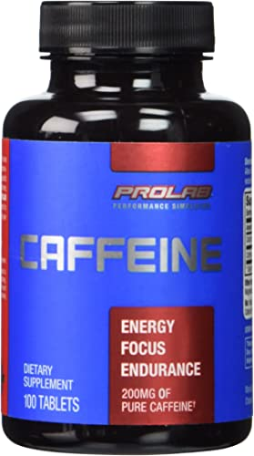 Prolab Caffeine Tablets 100 Count Pack of 2