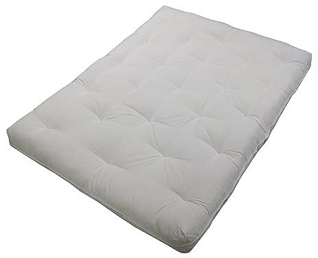 au natural 8 u0026quot  loft all cotton filled futon mattress king size twill amazon    au natural 8   loft all cotton filled futon mattress      rh   amazon