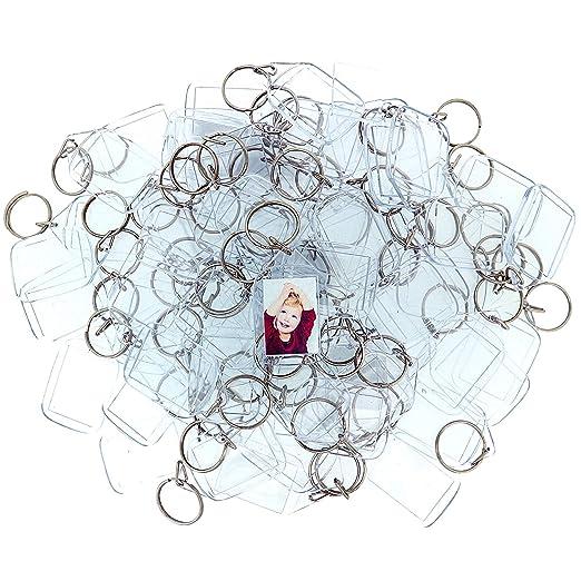 Kurtzy 50 Piezas Llaveros Marco para Fotos Acrílico Transparente - Llavero en Blanco de 3,2 x 5,4 cm - Llavero Apto para Billetera para Insertar Fotos ...
