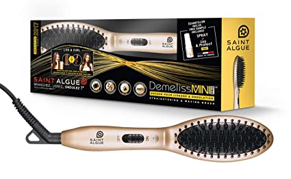 Saint Algue 3913 Straightening brush Caliente Negro, Oro 1.5m Utensilio de peinado - Moldeador
