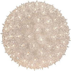 "Wintergreen Lighting Mega Starlight Sphere 150 Lights, 10"", Clear"