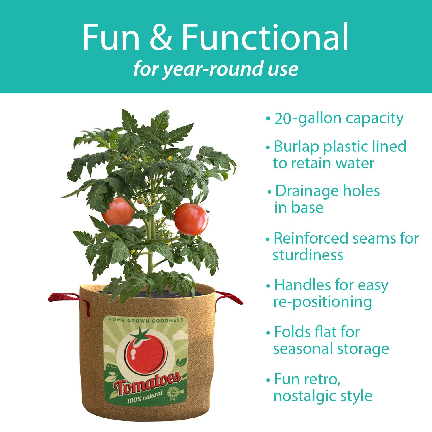 Amazon PANACEA PRODUCTS Grow Bag tomatoes 20 gallon