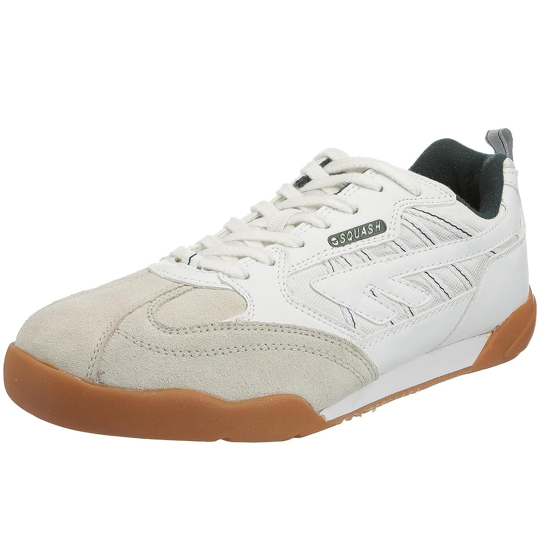(ハイテック) HI-TEC メンズ スカッシュ スニーカー メンズスニーカー 紳士靴 カジュアルシューズ スポーツシューズ 男性用 (9 UK) (ホワイト) B000VT5CYY