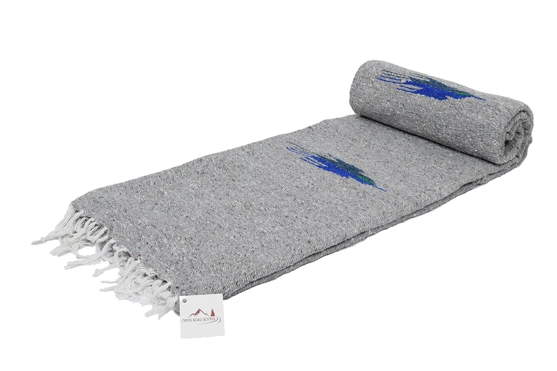 ヨガブランケット – - Thick Mexican Thunderbird Blanket – -ハンドメイドとMade forヨガ。 B017QM1292 Grey Blanket Grey Blanket