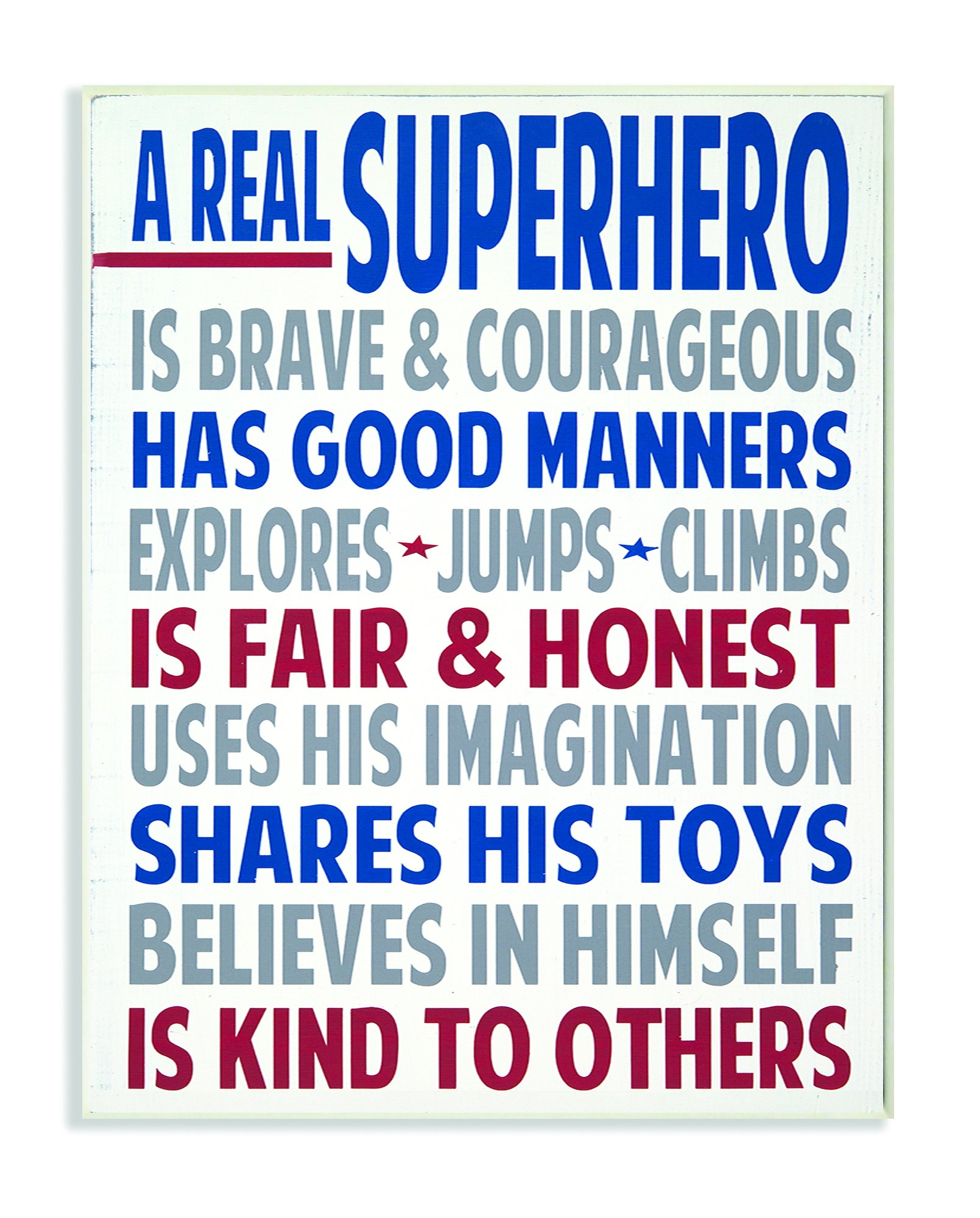 The Kids Room by Stupell Typography Art, A Real Superhero, 13 x 19 by The Kids Room by Stupell