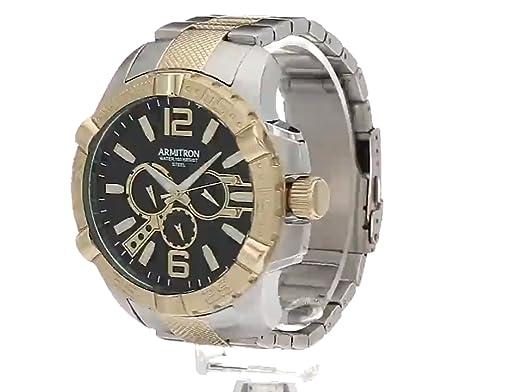 Amazon.com: Armitron Mens 20/5209BKTT Multi-Function Dial Two-Tone Bracelet Watch: Watches
