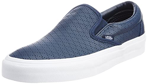 bda5add908 Image Unavailable. Image not available for. Colour  Vans Men s Classic Slip-on  Diamond Perf Dress Blues and Leather ...