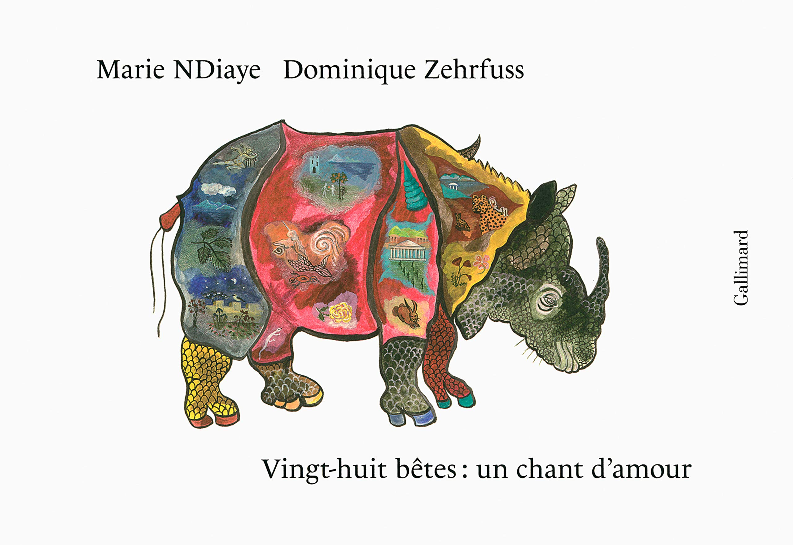 Vingt Huit Betes Un Chant Damour Illustre French