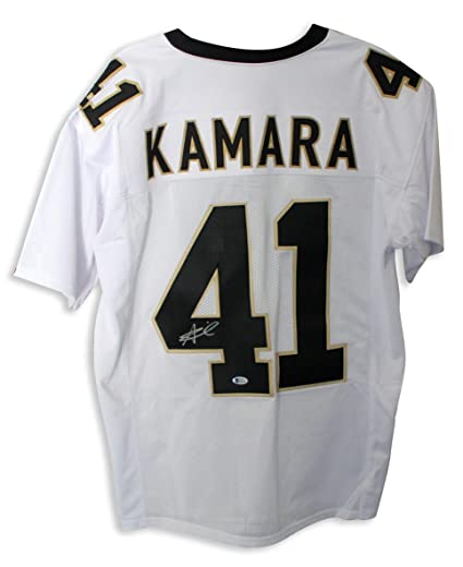 official photos 0179d 31829 Signed Alvin Kamara Jersey - White - Autographed NFL Jerseys ...