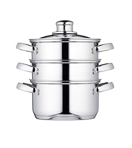 Kitchen Craft Clearview - Vaporera de 3 Pisos de Acero Inoxidable (16 cm)