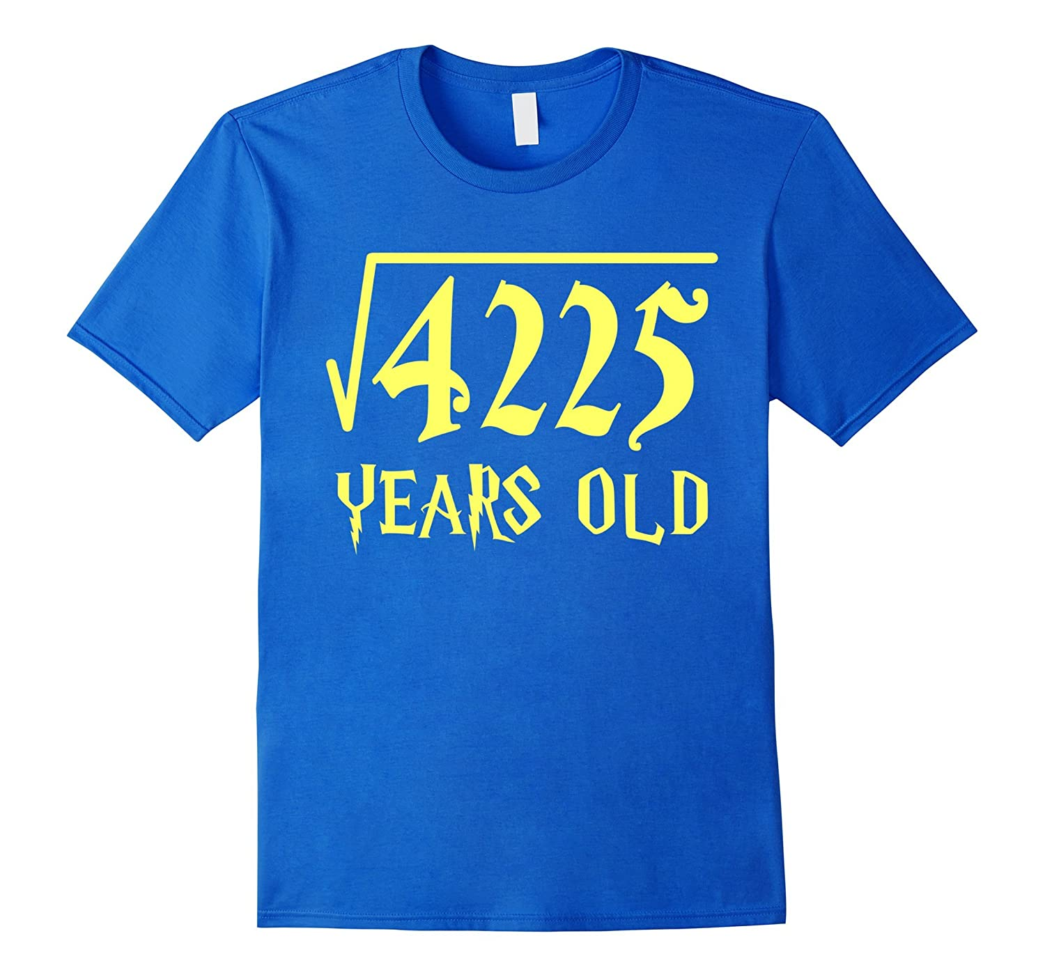 Square Root Of 4225 65 Years Old 65th Birthday T Shirt CL