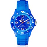 ICE-Watch - Ice Forever - Montre Mixte - Quartz Analogique - Cadran Bleu - Bracelet Silicone Bleu, SIBESS09