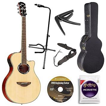 Yamaha apx500iii NA Thin Line Cutaway Guitarra Acústica/eléctrica Natural, Bundle con funda, Inicio Rápido DVD y accesorios: Amazon.es: Instrumentos ...