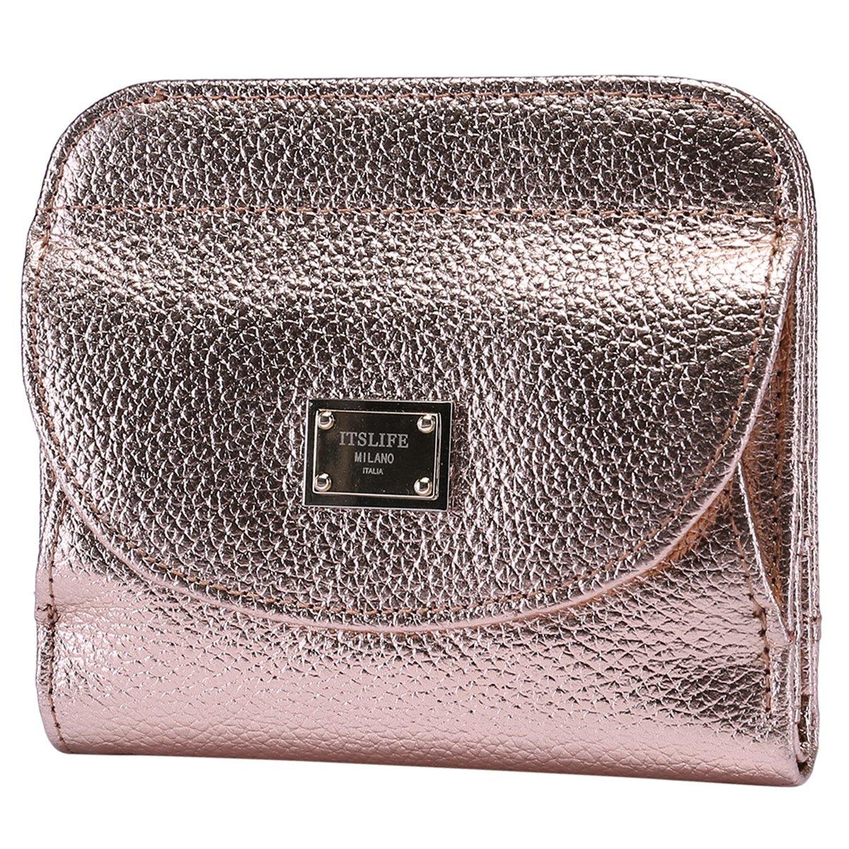 Itslife Women's Rfid Blocking Luxury Leather Wallet Slim Travel Wallet for Ladies