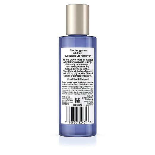 9512f616a7e Amazon.com : Neutrogena Oil-Free Liquid Eye Makeup Remover, 3.8 Fl. Oz. :  Neutrogena Make Up : Beauty