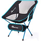 MOON LENCE Outdoor Ultralight Portable Folding Chairs with Carry Bag Heavy Duty 242lbs Capacity Camping Folding Chairs…