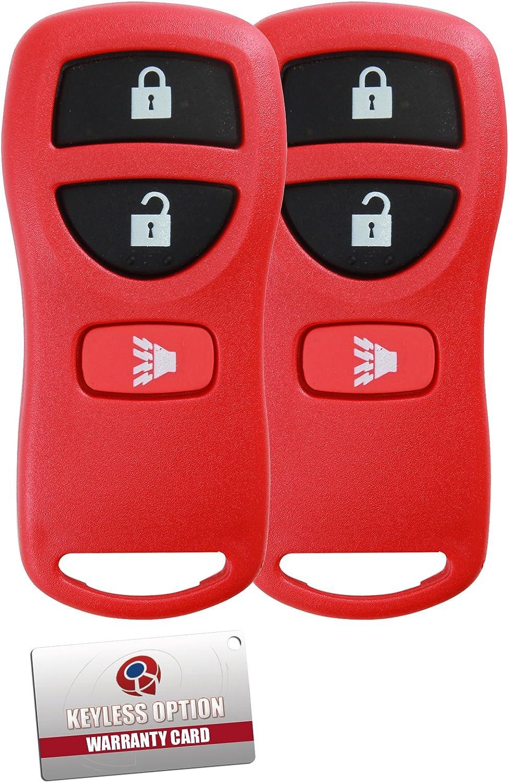 KeylessOption Keyless Entry Remote Control Car Key Fob Replacement for KBRASTU15 CWTWB1U733-Blue Pack of 2