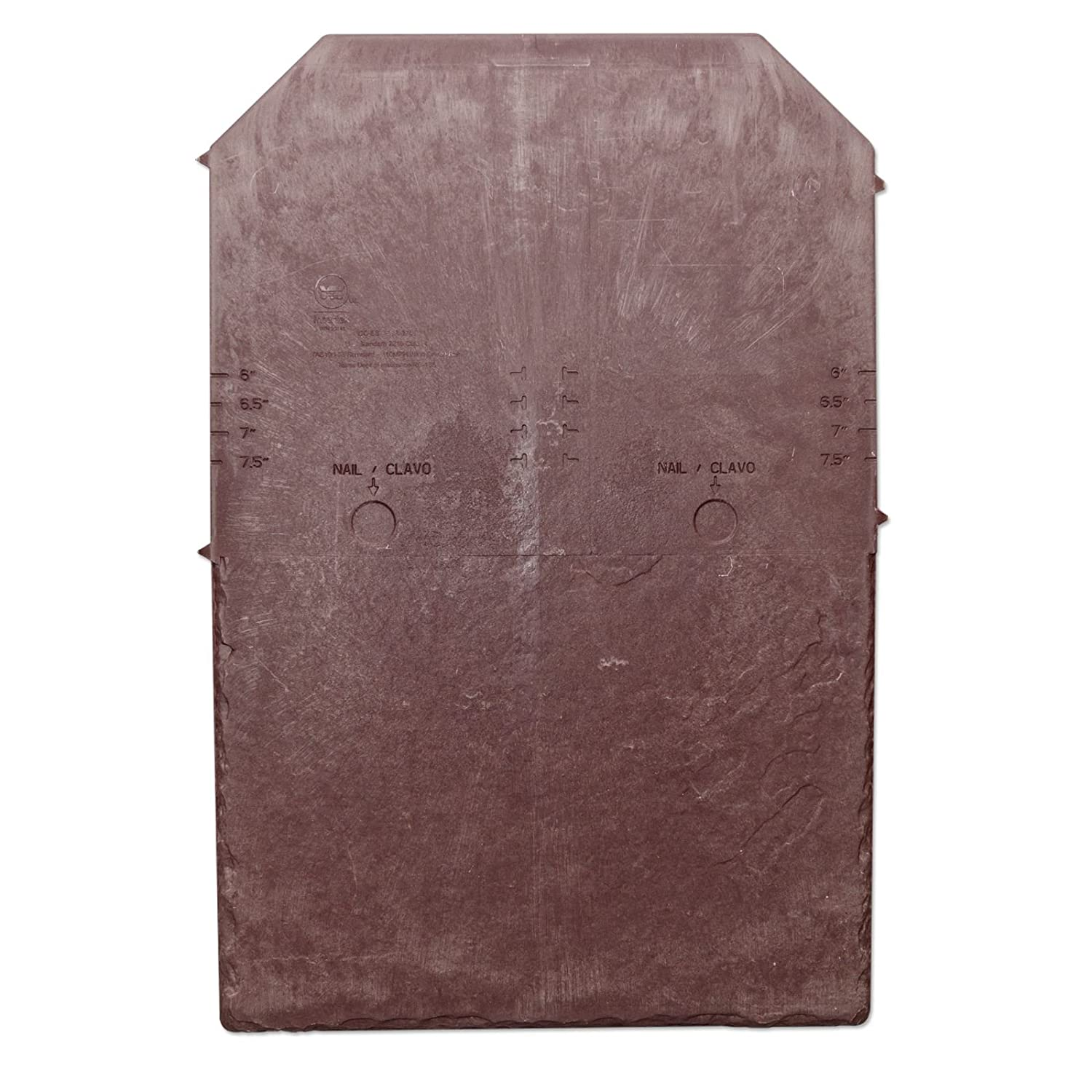 Tapco Slate Synthetic Roof Tile (25 Pack) - Brick Red Truly PVC Supplies