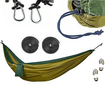 mando steve camping hammock set   ultralight military grade canvas   3x extra strength reinforcement agent amazon     mando steve camping hammock set   ultralight      rh   amazon