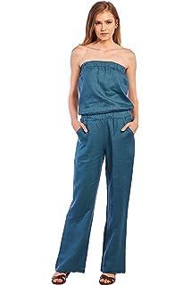 71a1db5c54c Amazon.com  Nostalgic Boutique Women s Logan Romper  Clothing