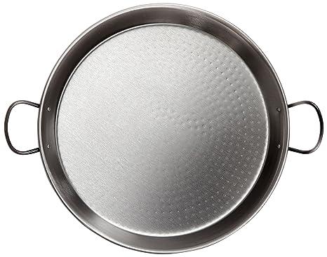 La Valenciana - Paellera (acabado pulido, extragruesa), negro, 30 cm