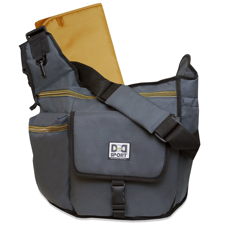 diaper dude sport bag by chris pegula grey sling. Black Bedroom Furniture Sets. Home Design Ideas