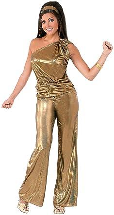 e1ed26c6c8f Forum Novelties Women s Solid Gold Lady Disco Costume
