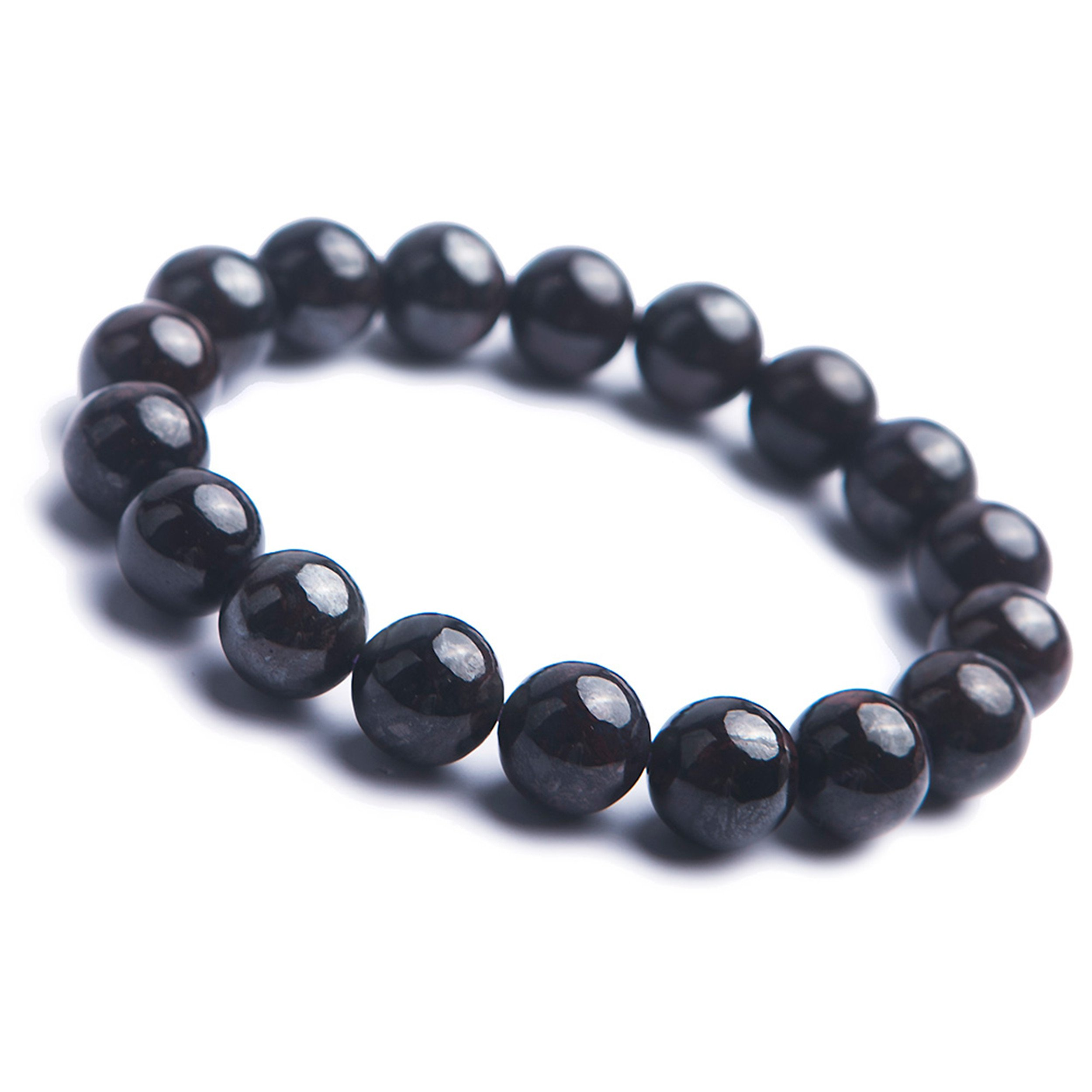 LiZiFang Genuine Natural Sugilite Gemstone Crystal Round Bead Stretch Bracelet For Women 12mm