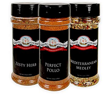 Mediterranean Medley, Zesty Herb, Perfect Pollo Shaker 3-pack - Delicious Flavors with