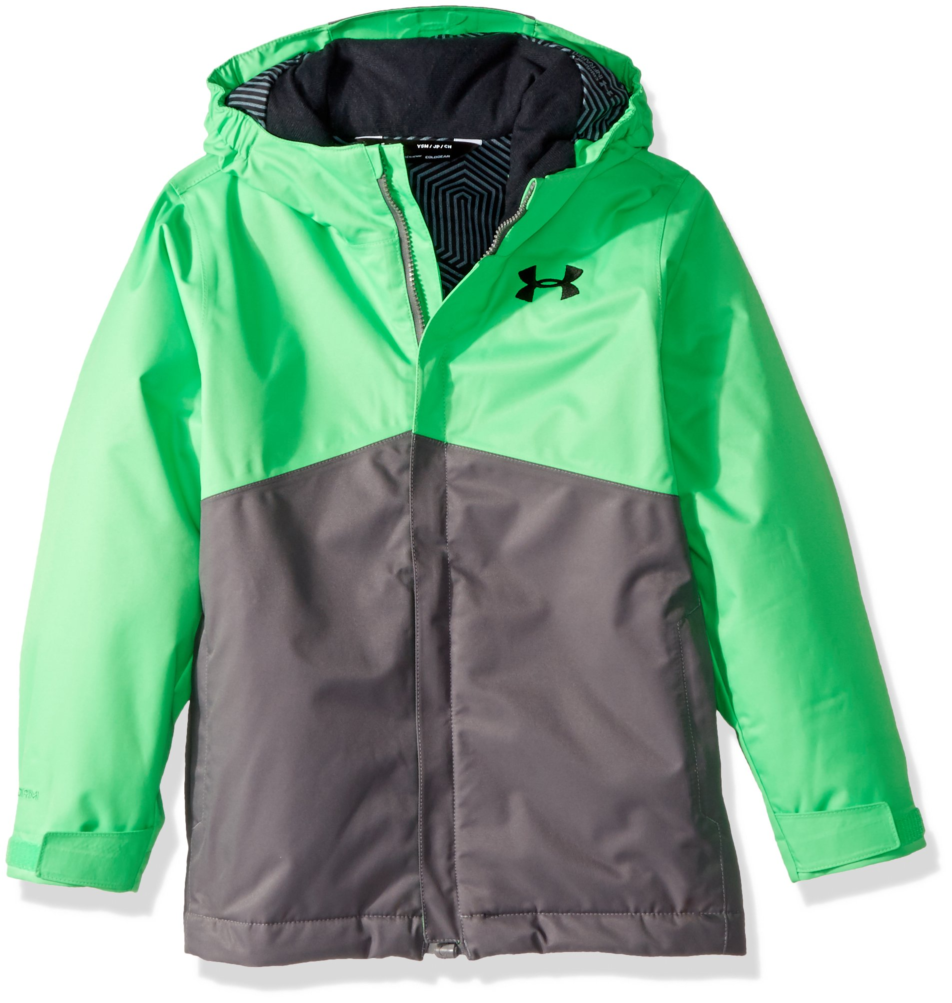 Under Armour Boys' Storm Freshies Jacket, Lime Twist/Graphite, Youth X-Large by Under Armour