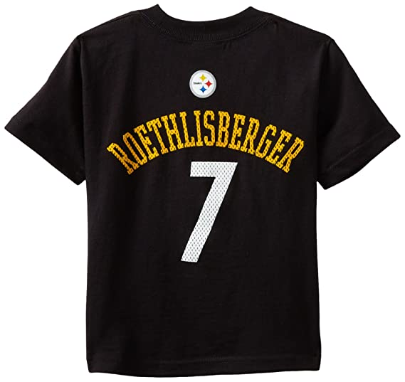 fb332018a38 NFL Pittsburgh Steelers Ben Roethlisberger Toddler Primary Gear S S Tee ( Black