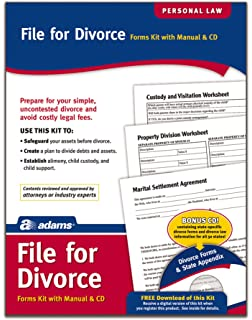 Amazon adams file for divorce cd manual and forms on cd adams divorce kit forms and instructions includes cd k302 solutioingenieria Choice Image