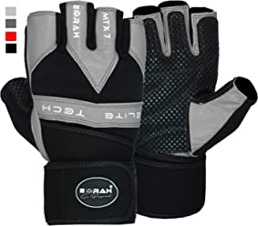 EMRAH Leather Bodybuilding Fitness Weight Lifting Training Gym Gloves Workout