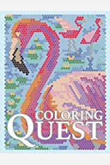 Coloring Quest: Activity Puzzle Color By Number Book for Adults Relaxation and Stress Relief (Coloring Quest Books) (Volume 7)