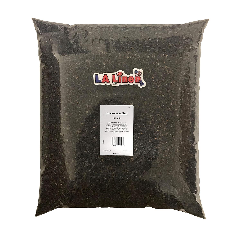 15-Pound LA Linen Prepackaged Organic Buckwheat Hulls, 40 Pounds