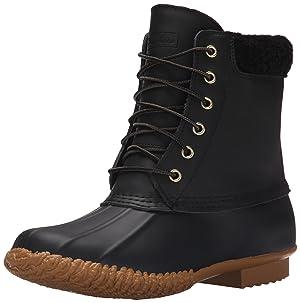 Skechers Women's Duck Boot Snow Boot, Black, 10 M US