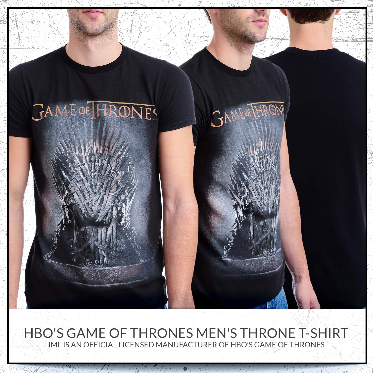 d56ee12a Amazon.com: HBO'S Game of Thrones Men's Throne T-Shirt: Clothing