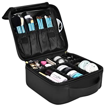 DTBG Mochila de Maquillaje profesional Bolsa de Maquillaje impermeable para Hombres y Mujeres Organizador de Cosméticos portátil Estuche para viaje ...