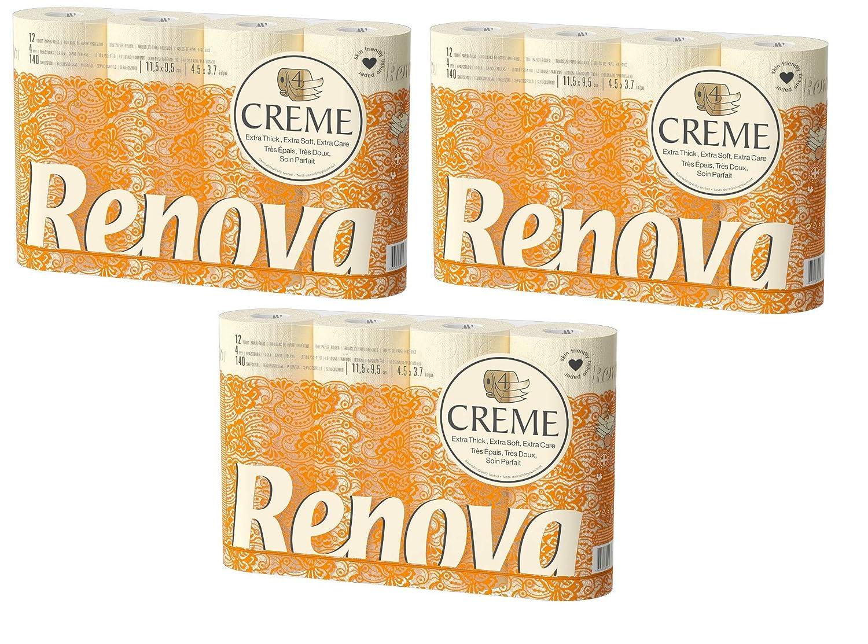 Paper Products Orange Toilet Tissue Renova Ultra-Soft Ply Toilet Paper Rolls