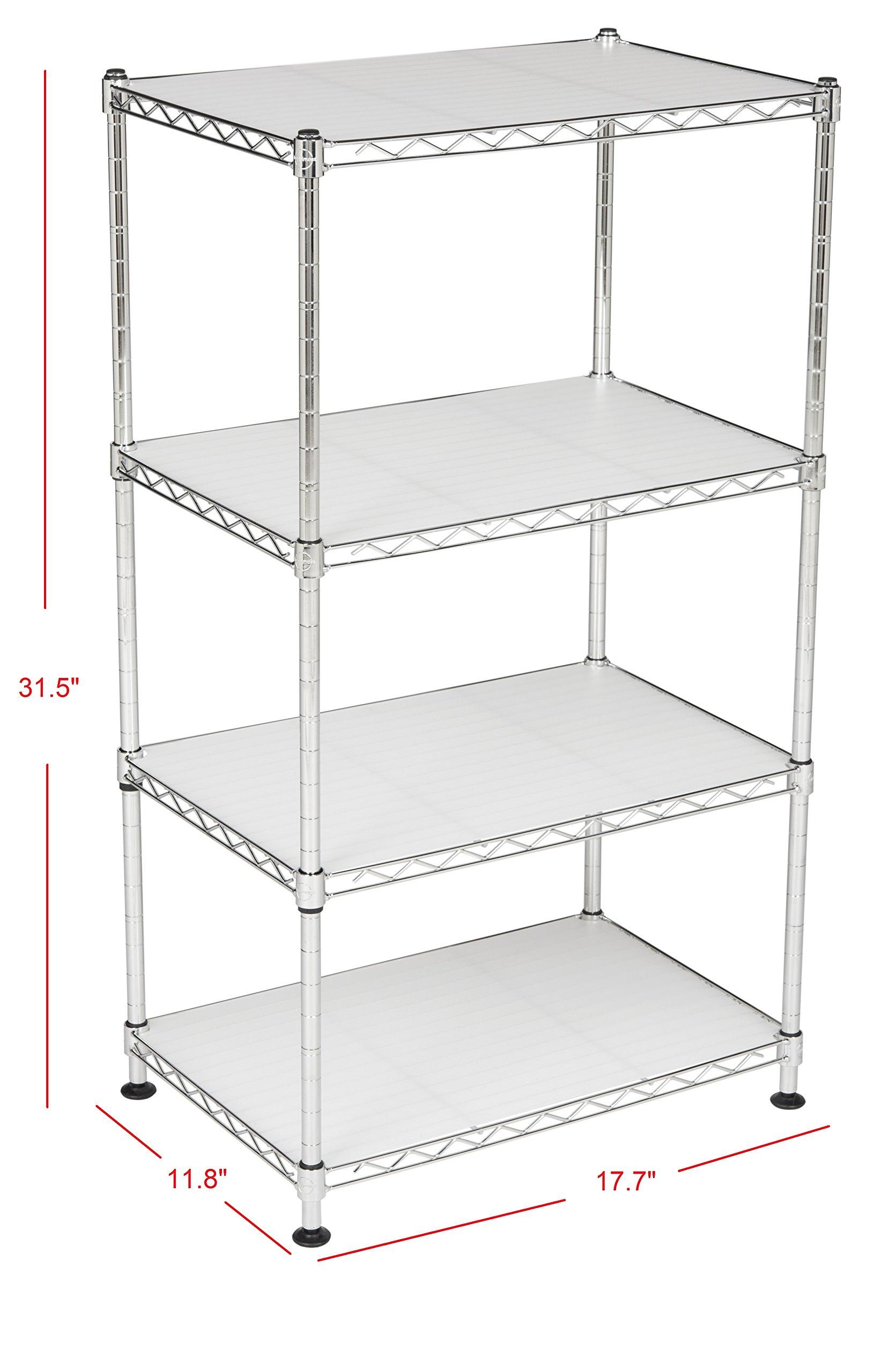 happimess Hope 31.5'' 4-Tier Adjustable Baker's Rack, Chrome by happimess (Image #6)