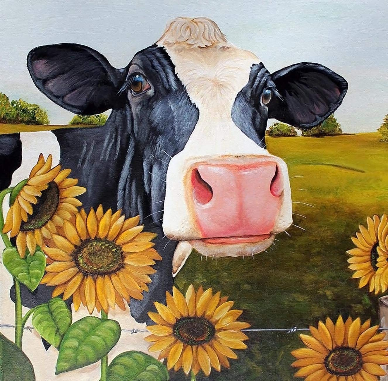 5D Full Drill Diamond Painting DIY Cow Family Embroidery Cross Craft Kit Decors