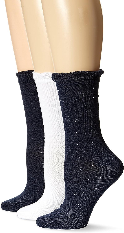 No Nonsense Feminine Crew Socks-3 Pack